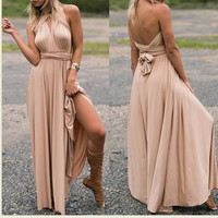 Women's Long Maxi Dress Convertible Wrap Gown Dress Bandage Bridesmaid maternity Dress clothes for pregnants 348