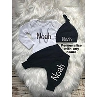 Baby Boy First Name Coming Home Outfit