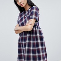 Wednesday's Girl smock dress in check at asos.com