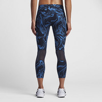 The Nike Power Epic Lux Women's Printed Running Crops.