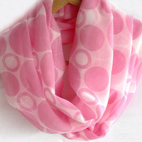 Pink infinity scarf