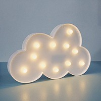 THEA HOME Decorative Marquee Sign,LED Moon Light,2AA Bettery Operated,Home Decor. (cloud, white)