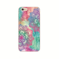 iPhone Back Case Cover Printing Mandala Flower Datura Floral Cell Phone Cases