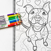 Adult Coloring Book, Coloring Book, Dogs