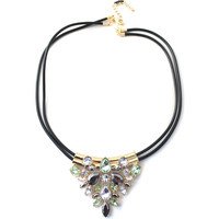 Women Luxury Twin-Strand Beaded Pendent Necklace