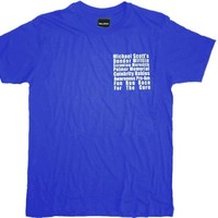 The Office Michael Scott's Fun Run Race Blue T-Shirt