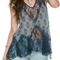 FREE PEOPLE FULL BLOSSOM BELL TRAPEZE TANK