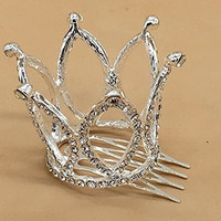 Dana Basics Princess Tiara Mini Crown Bridal Rhinestone Decor Crown