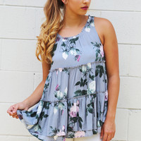 Over And Over Again Floral Tank