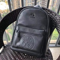 VERSACE MEN'S FASHION CASUAL LEATHER BACKPACK BAG