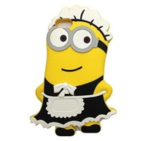 Kate Sister : Iphone 5 and 5s New 3D Minion Maid Despicable Me Silicone Rubber Case
