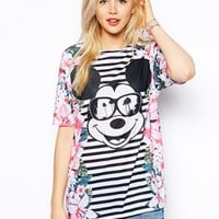 ASOS Tunic with Mickey Mouse Floral Print