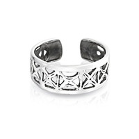 Bling Jewelry Sterling Silver Toe Rings Filigree Cutout X Mid Finger Ring