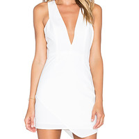 x Naven Twins Dreaming Bodycon Dress in White