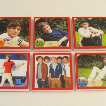 One Direction Note Pads Set of 6 - Excellent Party Favors - Harry Louis Liam Niall Zayn - Set #4