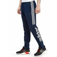 New With Tags Men's Adidas Athletic Gym Muscle Pants Joggers SMU Linear Stripe