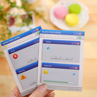 60Pages Set Cute Computer System Shape Memo Pad Diy Stickers Diary Stationary Set Kawaii Stickers Cute Post It Office Supplies