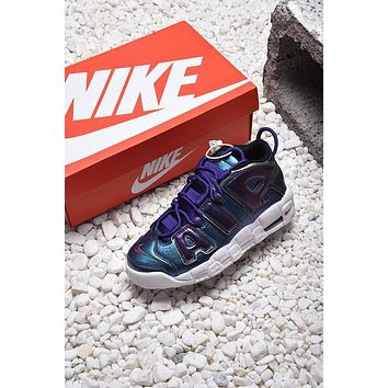 Nike Air More Uptempo GS Purple Iridescent Basketball Shoes