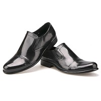 High quality Round Toe Dress Shoes business and office Loafer For Men Genuine Leather Slip On shoe