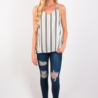 This Magic Moment Striped Tank