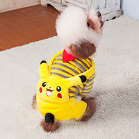 Pokemon go Funny cartoon Halloween dog Pikachu costume clothes pet cat dog overall hoodie jumpsuit small dog coat jacket clothes