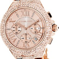 Michael Kors Camile Rose Gold Rose Gold Dial Stainless Steel Ladies Watch MK3196