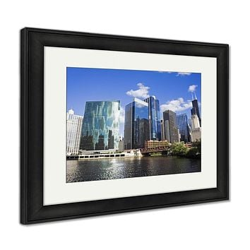 Framed Print, Summer Day In Chicago Illinois Usnorth Americ