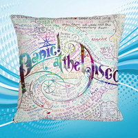 Pillow Custom Home Decor Panic At The Disco Lyric Design Print 2 Side Cushion Square Size 16x16 18x18 20x20 inch