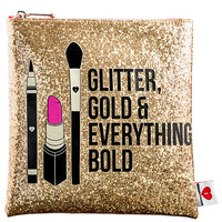 Glitter, Gold, & Everything Bold Clutch - SEPHORA COLLECTION | Sephora