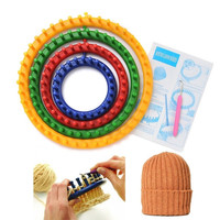 1 Set 4 Size Quality Round Circle Hat Knitter Knifty Knitting Knit Loom = 1958307204