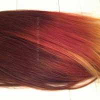 """Auburn Fire Ombre//Auburn faded to Red Blonde Copper//(6) Pieces, 20""""//Double Wefted//Custom Your Own"""