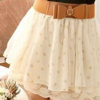 Wave Point Lace Skirt