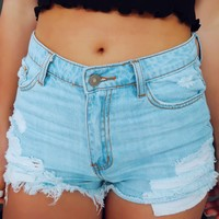 Come Together Shorts: Denim