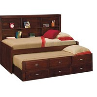 Varsity Merlot Twin Daybed with Trundle - Value City Furniture