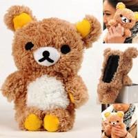 Authentic iPlush Plush Toy Cell Phone Case for Apple iTouch 3 iTouch 4 (Brown Bear)