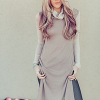 Cowl Neck Sweater Knit Pullover
