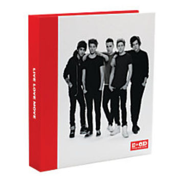One Direction Limited Edition 1D OD Together Round Ring Binder Band Red by Office Depot