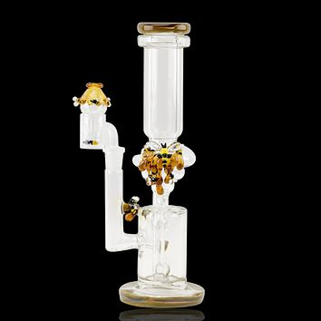 Empire Glassworks Recycler Water Pipe - Save The Bees
