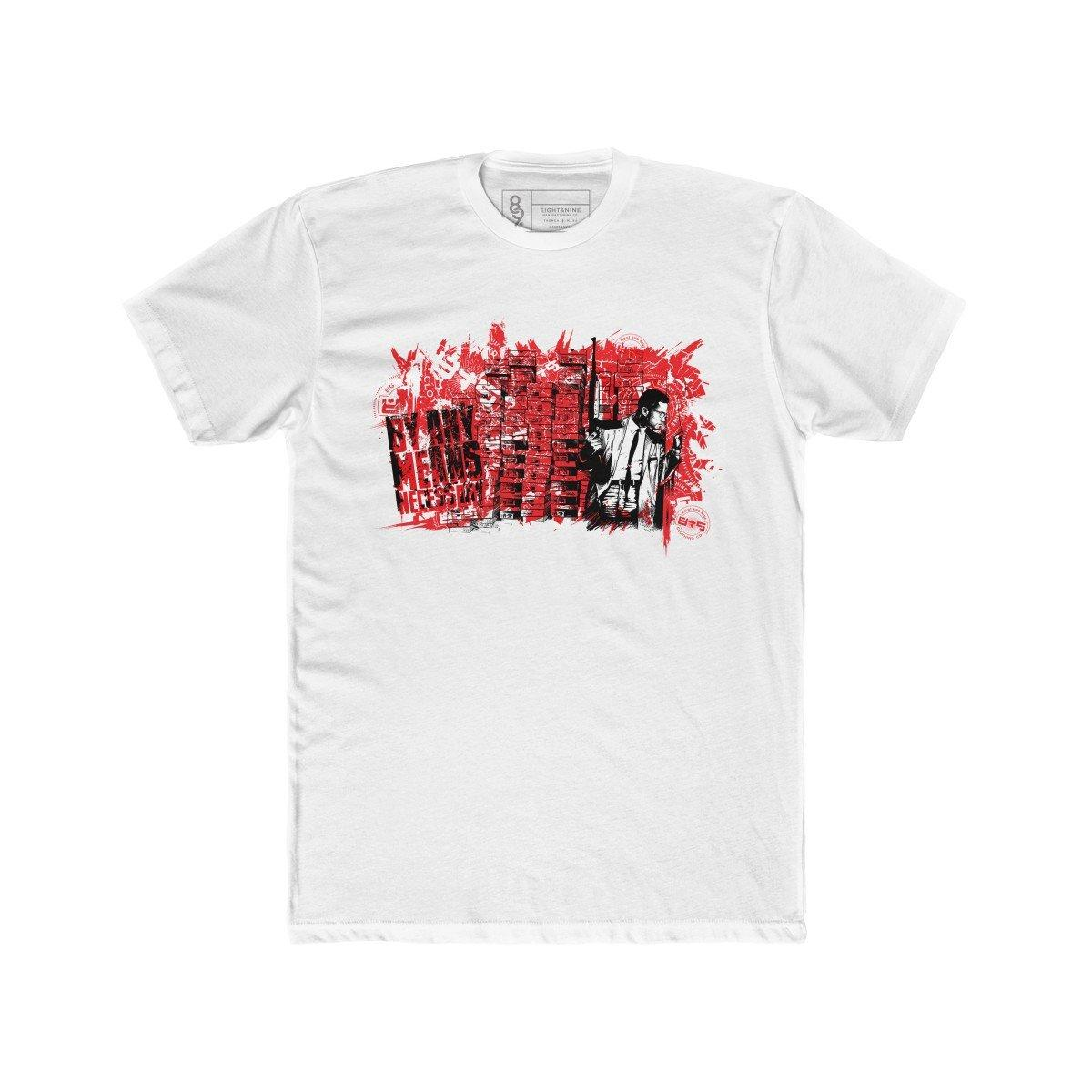 Image of By Any Means Necessary T-Shirt Fired Red Quickstrike