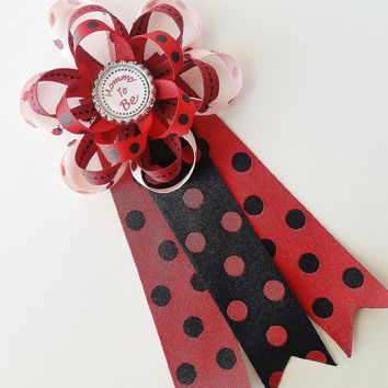 Ladybug Baby Shower Mommy to Be Corsage, Mommy to Be Pin, Daddy to Be Corsage, Little Ladybug Baby Shower Decor, Maternity Photo Prop