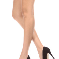 Black Faux Suede Pointy Toe Classic Pumps