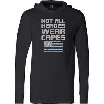 Police Not All Heroes Wear Capes Lightweight Hoodie