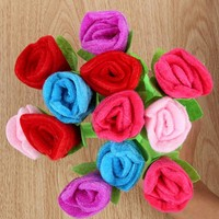 12pcs/lot Cute Design Plush Rose Ballpoint Pens Colorful Boll point Pen High Quality Office & School Writing Supplies