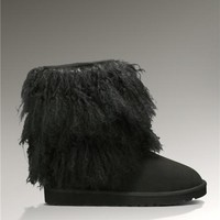 UGG Sheepskin Cuff Short 1875 Boots Black