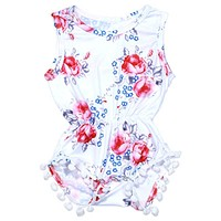 Summer Baby Rompers Clothes born Baby Girl Summer Floral Romper One-piece Sunsuit Outfit Clothing Set