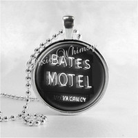 Bates Motel Necklace Art Pendant Jewelry with Ball Chain, Psycho