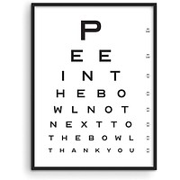 """Funny Bathroom Signs for Home Decor - by Haus and Hues 