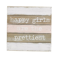 MUD PIE: Happy Girls Plaque