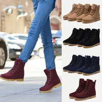Womens Mens Genuine Leather Mid Calf Boots Snow Boots Warm Winter Lace Up Shoes lovers shoes # lcmqstore [8384254023]