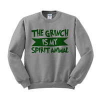 The Grinch is My Spirit Animal (Green) Crewneck Sweatshirt